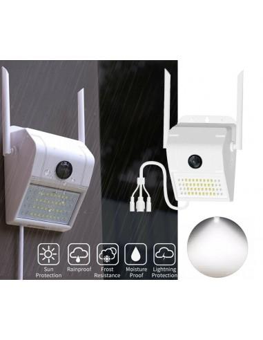 IP Camera WIFI Esterno 3MP 1080P LED...