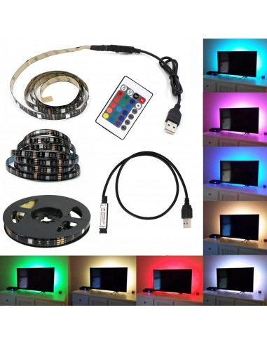 KIT TV STRISCIA STRIP LED USB RGB 5V...