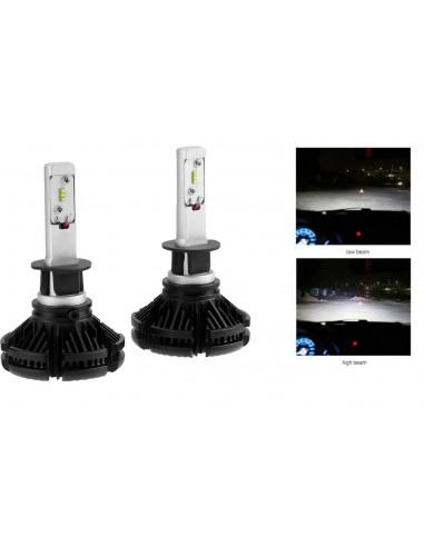 COPPIA LAMPADE LED AUTO FARI H1 X3...
