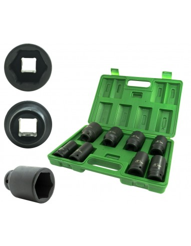 "KIT SET 8 BUSSOLE 3/4"" ESAGONALI PER..."