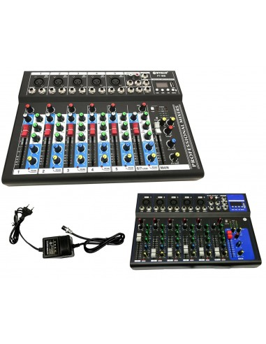 MIXER AUDIO PROFESSIONALE 7 CANALI...